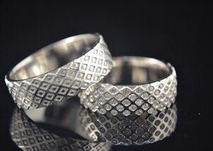 ЗЛАТНИ БИЖУТА Венчални Халки Брачна Халка от бяло злато