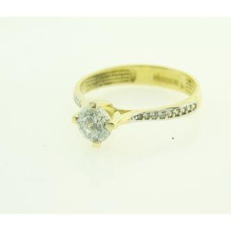 Годежен пръстен от жълто злато