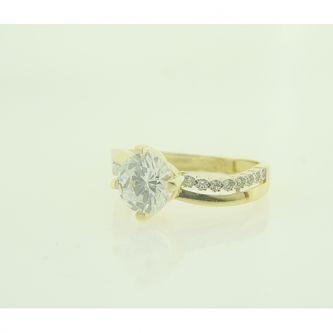 Годежен пръстен от злато с цирконий
