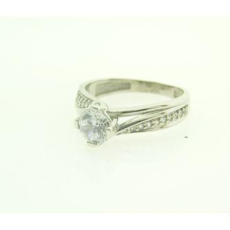 Годежен пръстен от бяло злато