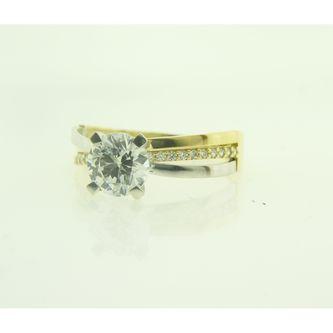 Годежен пръстен в жълто и бяло злато
