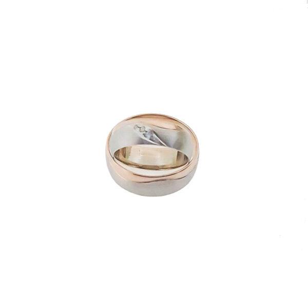 Венчални халки от бяло и розово злато
