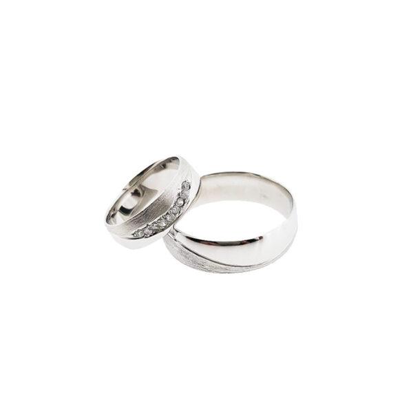 Венчални халки от бяло злато