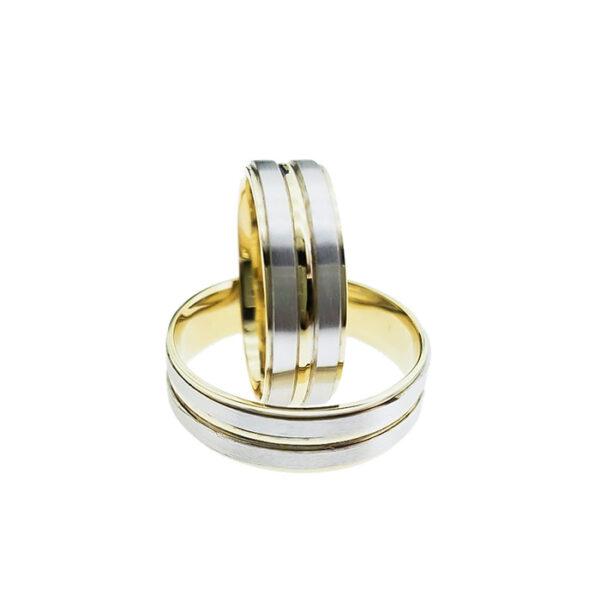 Венчални халки от жълто или бяло злато
